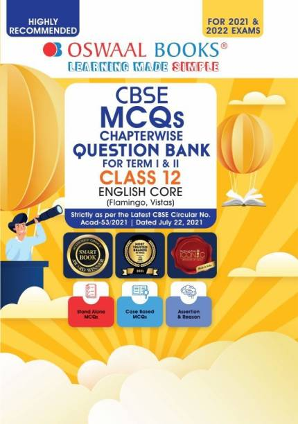 Oswaal Cbse MCQS Chapterwise for Term I & II, Class 12, English Core (with the Largest MCQ Question Pool for 2021-22 Exam) - Chapterwise For Term I & II, Class 12, English Core (With the MCQ Question Pool for 2021-22 Exam)