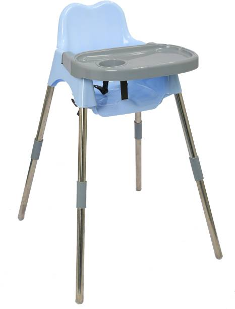 Esquire Luna Baby Dining Chair with Tray, L Blue-Grey Colour