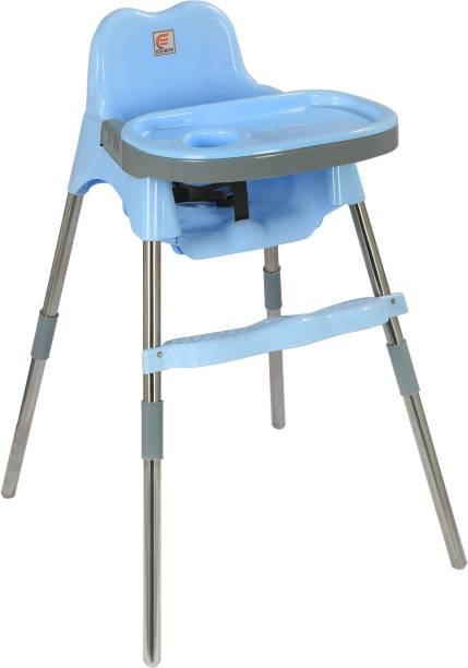 Esquire Spotty Baby Dining Chair with Footrest, L Blue-Grey Combo