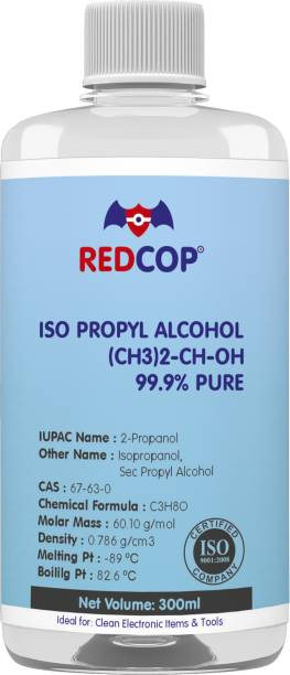 REDCOP Isopropyl Alcohol 99.9% Pure Rubbing Alcohol [(CH3)2-CH-OH] for Computers, Gaming, Laptops, Mobiles