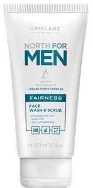 Oriflame Sweden north for men fairness face wash & scrub Face Wash