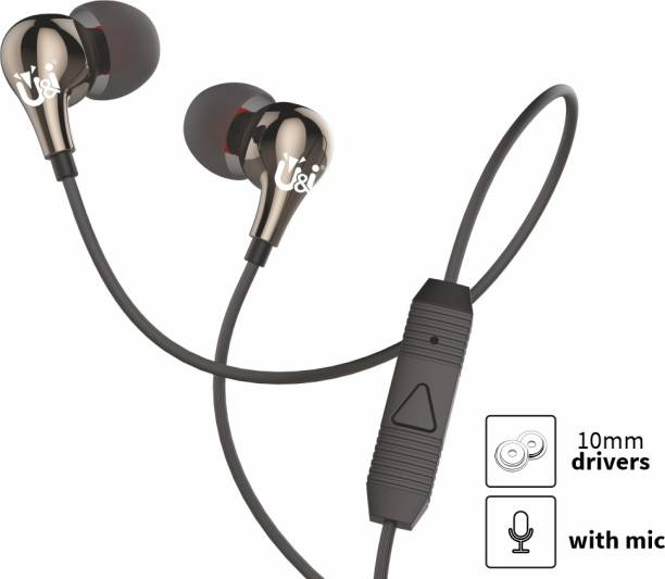 U&I Pasta Series Extra Bass Wired Earphone with Mic Wired Headset
