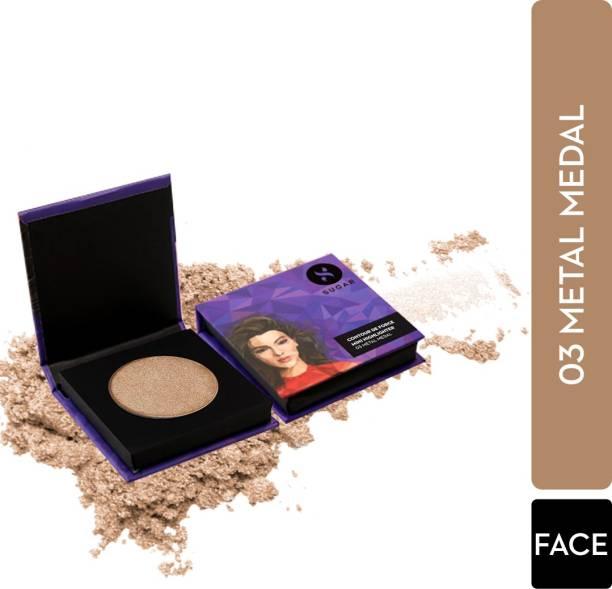 SUGAR Cosmetics Contour De Force Mini Highlighter - 03 Metal Medal (Soft Gold) Highlighter