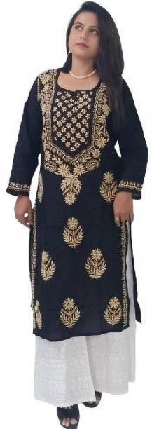 TEHZEEB HANDICRAFT Women Embroidered A-line Kurta