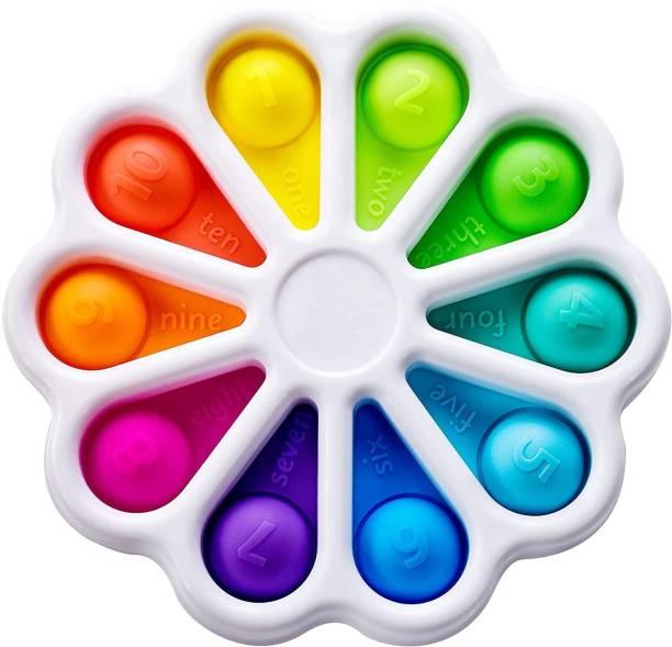 ILASARIYA pop it Fidget Toys, pop it Fidget Toy Set | pop its Fidget Toys, Fidget Toys pop it Rainbow, pop it Toy, | poppit Fidget Toy, Rainbow pop it, Push pop Bubble Fidget Toy (Dimple Digits)
