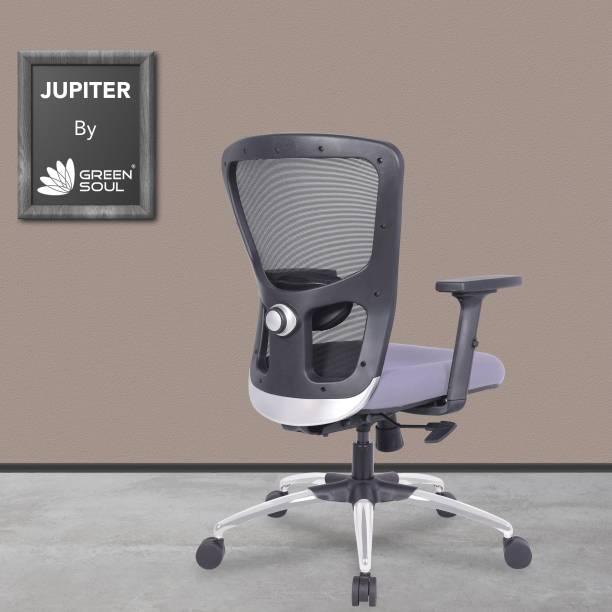 GREEN SOUL Jupiter Mid Back Mesh Office Executive Ergonomic Chair Mesh Office Adjustable Arm Chair