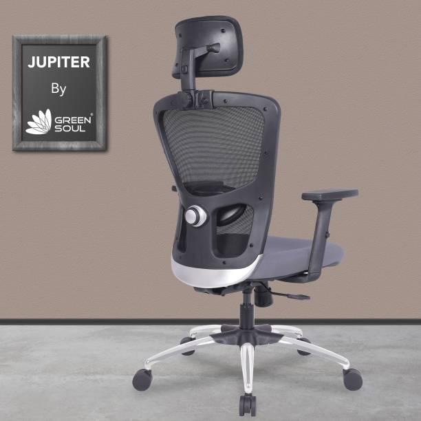 GREEN SOUL Jupiter High-Back Mesh Office Executive Ergonomic Chair Mesh Office Adjustable Arm Chair
