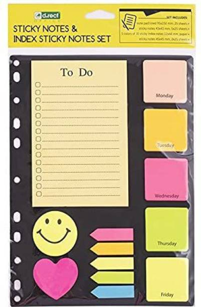 SeaRegal 1 25 Sheets 1 x Set of Sticky Note, 5 Colors