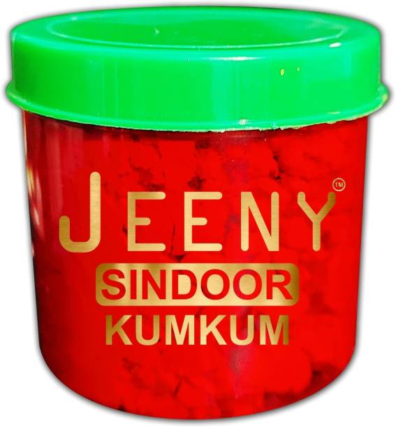 Jeeny 100% - 10gm Natural Dust Sindoors Red No side Effects & No Hair Fall Sindoor (Red) Pack Of - 01 POWDER