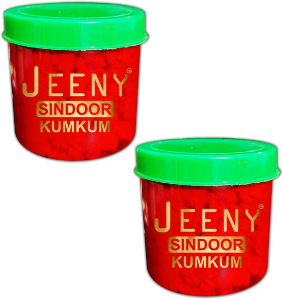 Jeeny 100% - 20gm Natural Dust Sindoor Red No side Effects & No Hair Fall Sindoor (Red) Pack Of - 02 POWDER