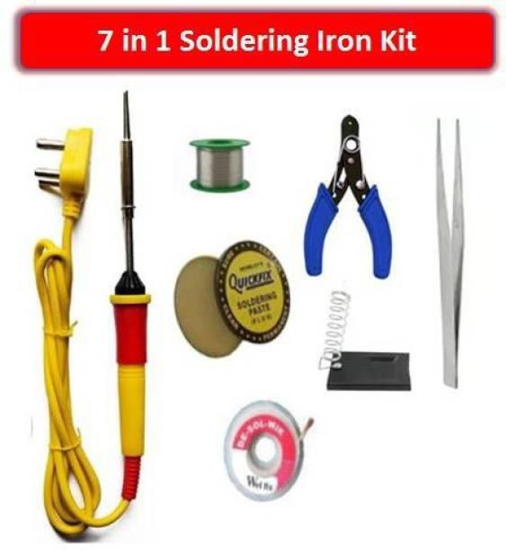 Padmakshi 7 in 1 Soldering/Welding Iron Kit For DIY & Craft Work 25 W Simple