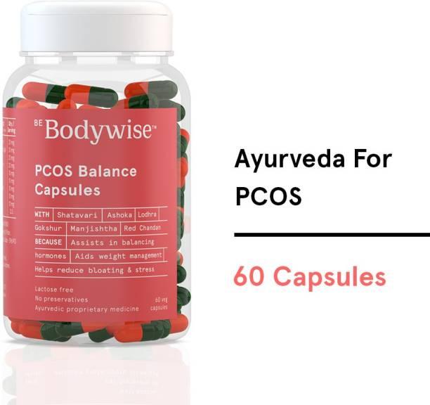 Bodywise 100% Ayurvedic PCOS Balance Capsules, Regularize Periods, Reduce Bloating
