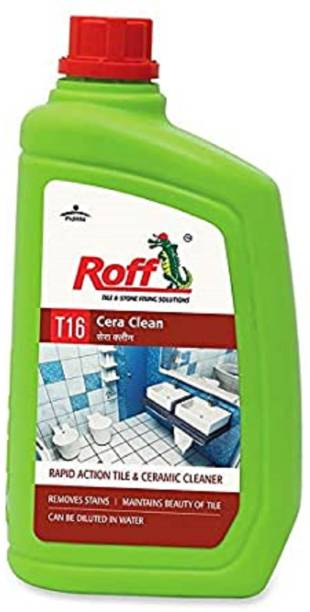 Pidilite T16 Roff Cera Clean Professional Tile, Floor and Ceramic Cleaner (1 Litre) 1000ml - Concentrated liquid for tough stains -For use on mosaic, ceramic, vitrified tiles, bath tubs, wash basin Regular