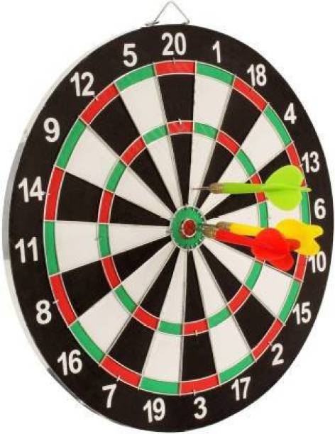 FITNACE 12 INCH DART BOARD DOUBLE FACED FOR KIDS DOUBLE FACED DARTBOARD Soft Tip Dart