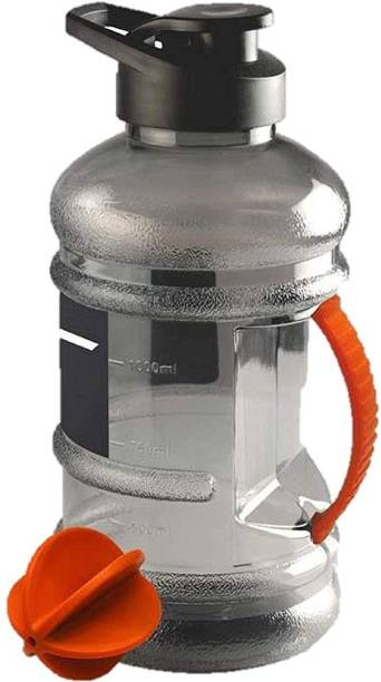 Fitness Kart Sports 1.5 Liter Gallon Bottle 50oz BPA-Free Gym Water Bottle with Mixer Ball 1500 ml Bottle