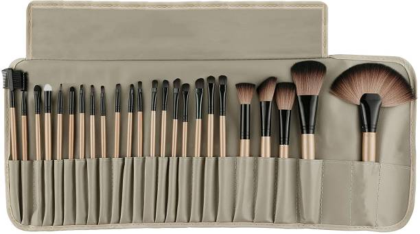 BELLA HARARO SkinPlus Super Soft Makeup Brushes 24 Piece Makeup Brush Set Premium Synthetic Foundation Blending Face Powder Lipstick Eye shadow Make Up Brushes Set with PU Leather Pouch