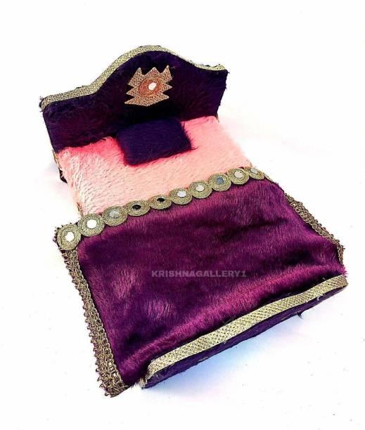 krishnagallery1 Laddu Gopal Bed Super soft Wooden Quality Chowki Bed Wooden Pooja Chowki