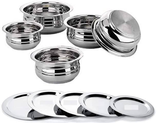Flipkart SmartBuy Pack of 5 Stainless Steel Dinner Set