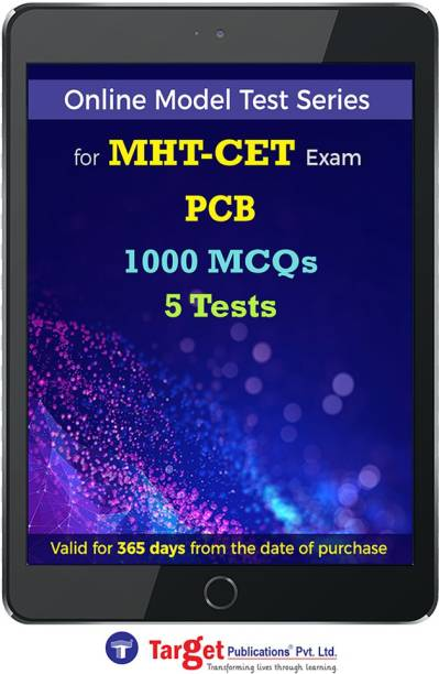 Target Publications MHT CET PCB Online Mock Tests Series | Practice 1000 MCQs | Score Booster Model Tests with Solutions | Physics, Chemistry, Biology | 1 Year Subscription