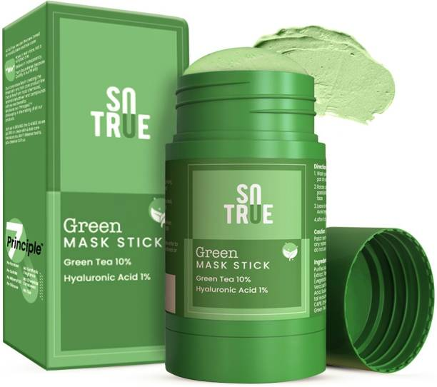Sotrue Green Tea Cleansing Mask Stick For Face | For Blackheads, Oil Control & Anti-Acne | Purifying Solid Clay Detox Mud Mask