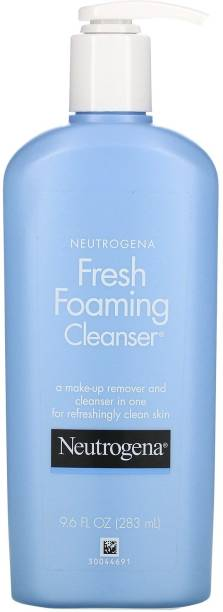 NEUTROGENA Foaming Facial Cleanser Makeup Remover with Glycerin Oil Soap AlcoholFree Daily  Removes Dirt Oil Waterproof, Non Comedogenic Face Wash