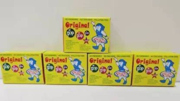 Traders Crafty villa Christmas & New Year Special Original POP POP Magic Wrinkle Sound for Kids No 1 Quality ( Pack of 5 Packets Total 250 Shots pop pop Gag Toy