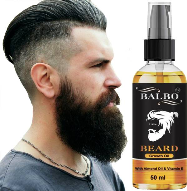 BALBO Beard Growth Oil For Men Fast Growth Advanced - 50ml - Beard Growth Oil for Patchy Beard, With Redensyl and DHT Booster, Nourishment & Moisturization, No Harmful Chemicals  Hair Oil