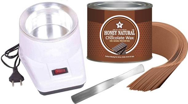 Ultima glow smooth and easy waxing chocolate wax wax for (arms ,legs and under arms) (chocolate waxwax and white heater) wax included strips and sticks Wax 578 gram Wax