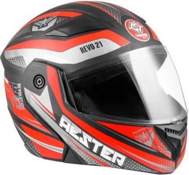 4U SUPREME RED RACING FULL FACE SPORT HELMET MOTOR BIKE HELMET (BLACK RED) Motorbike Helmet
