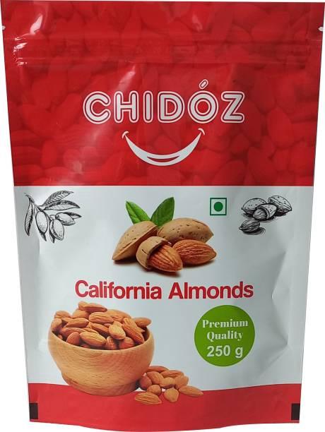 Chidoz Premium Plain California, Non Perriel, Unpasturised Almonds