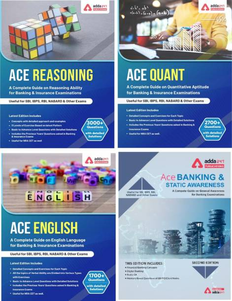 Reasoning/ Quantitative Aptitude/ English/ Banking & Static Awareness (4 Books) Topic-Wise Solved Papers For IBPS/ SBI/ RRB/ RBI Bank Clerk/ PO Prelim & Main Exams