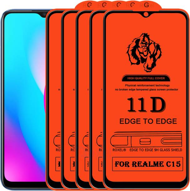 Roxel Edge To Edge Tempered Glass for Realme C15