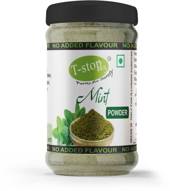 T-stopez-Purity For Surety Mint Leaf Pudina Sundried Powder No Added Colour Or Preservatives For Tea, Coffee, Chutney