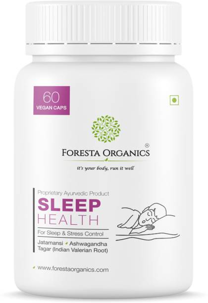Foresta Organics SLEEP HEALTH Natural Jatamansi, Tagar, Ashwagandha| Anti Anxiety & Sleep Booster
