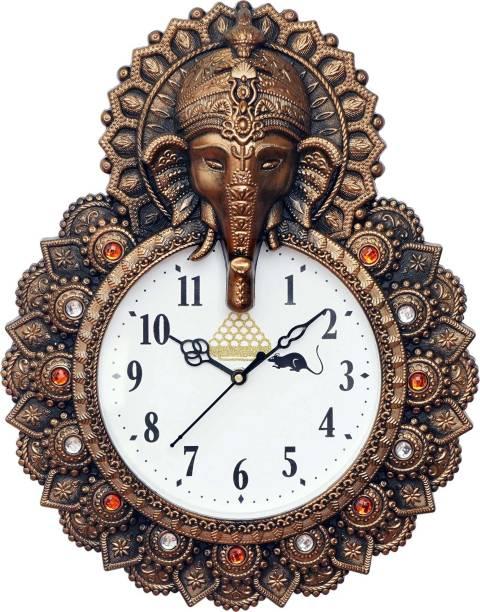 GrabBasket Analog 40 cm X 30 cm Wall Clock