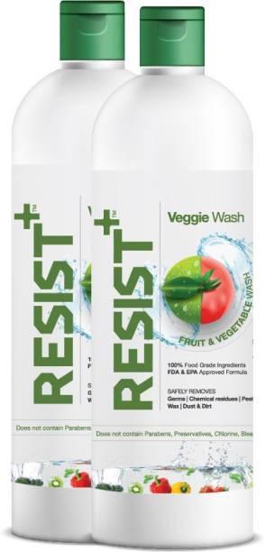 RESIST+ Pack of 2 - Veggie Wash Fruit & Vegetable Cleaner Liquid (1000ml)