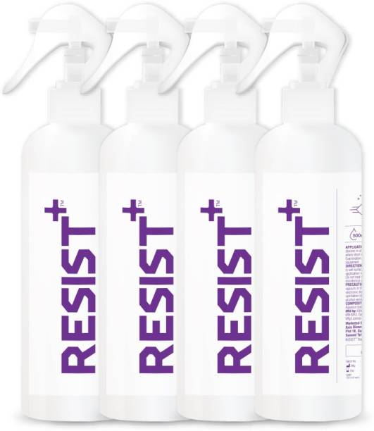 RESIST+ Pack of 4 - Alcohol-Based Surface Disinfectant Spray (Benzalkonium Chloride + Ethanol) 2000ml
