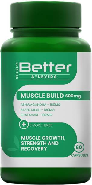 Better Nutrition MuscleBuild - Natural Ayurvedic Capsules with 8 herbs for Muscle growth & Recovery