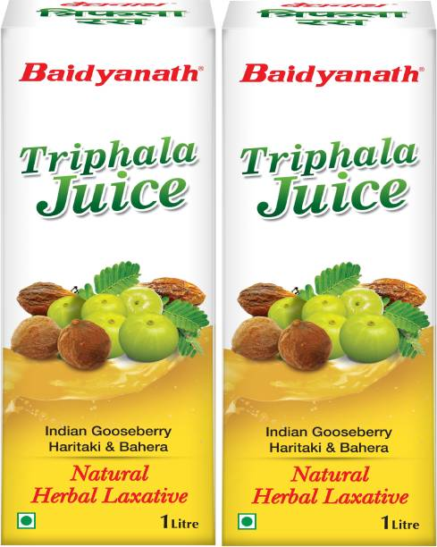 Baidyanath Triphala Juice 1L|Helps in Reduce Body Fat also beneficial in constipation |Helps to Control Cholesterol Level 1L (Pack of 2)