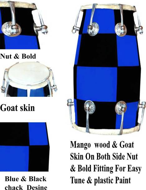 GT manufacturers Blue Chack 12'' inch nut & bold Nut & Bolts Dholak