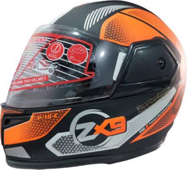 4U SUPREME ZX9 PRO DX FULL FACE SPORT LOOK BIKE HELMET ISI APPROVED Motorbike Helmet