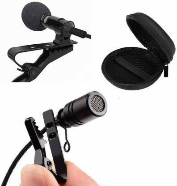 Miraaz 3.5mm Clip Microphone Collar Mic For YouTube & Recording Mike For Voice Recording, Lapel Mic Mobile, Android Smartphones, Camera, iPhone For Online Classes With Hard Carrying Case(CM05,Black)#Quality Assurance Microphone (BLACK) Microphone