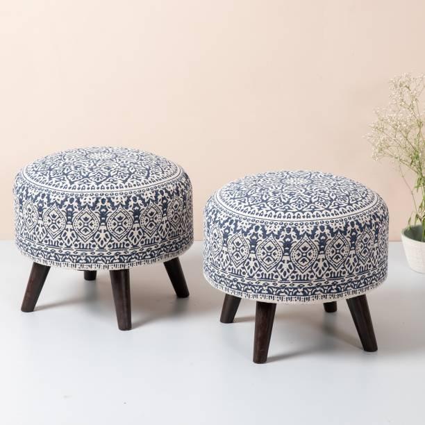 nestroots Solid Wood Standard Ottoman