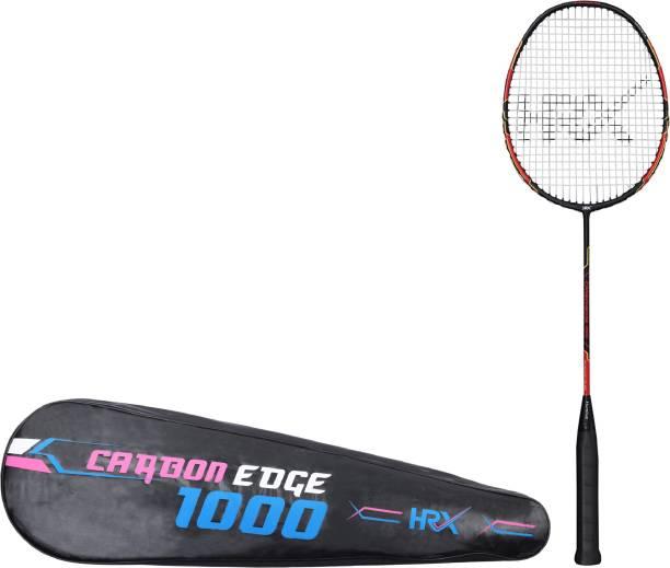 HRX Carbon Edge 1000 Red, Black Strung Badminton Racquet