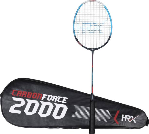 HRX Carbon Force 2000 Blue, Grey Strung Badminton Racquet