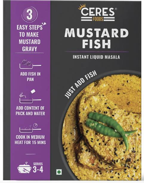 Ceres Foods MUSTARD FISH   INSTANT LIQUID MASALA   READY TO COOK   JUST ADD MUTTON/PANEER