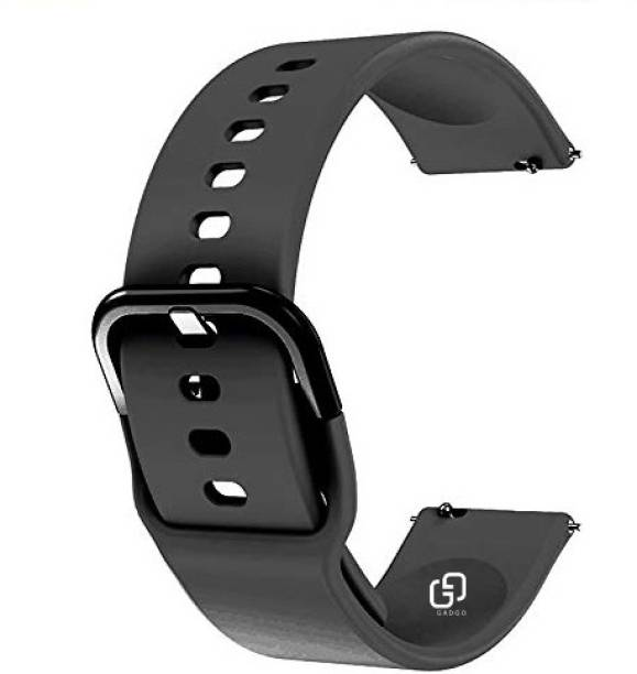GADGO Silicon Strap With Metal Hook For Boat Storm Smart Watch Strap