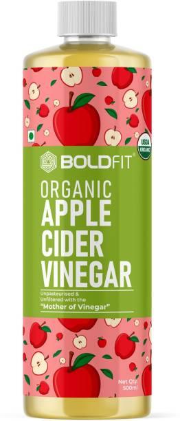 BOLDFIT Raw Organic Apple Cider Vinegar with Mother Vinegar - USDA Certified Straight from ACV Apple Cider Vinegar