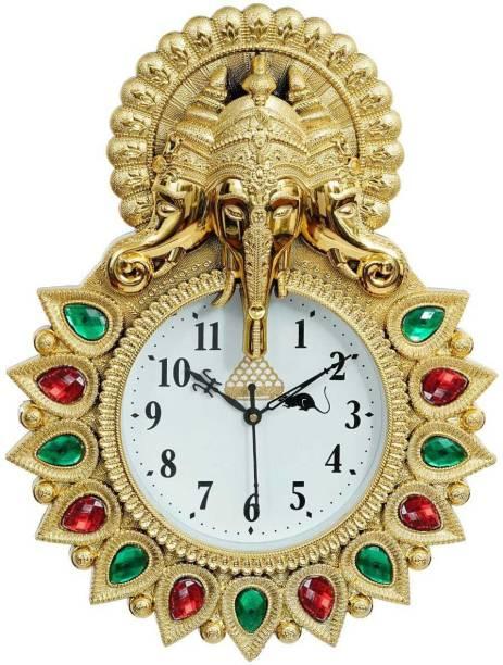 Gudki Analog 35 cm X 25 cm Wall Clock