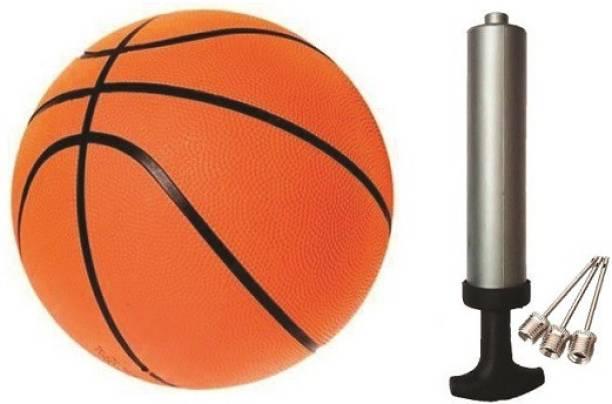 Velma SLAMFORCE Basketball - Size: 7 (Pack of 1, Orange) WITH AIR PUMP Basketball - Size: 7